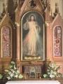 Segunda imagen junto a los restos de Santa Faustina